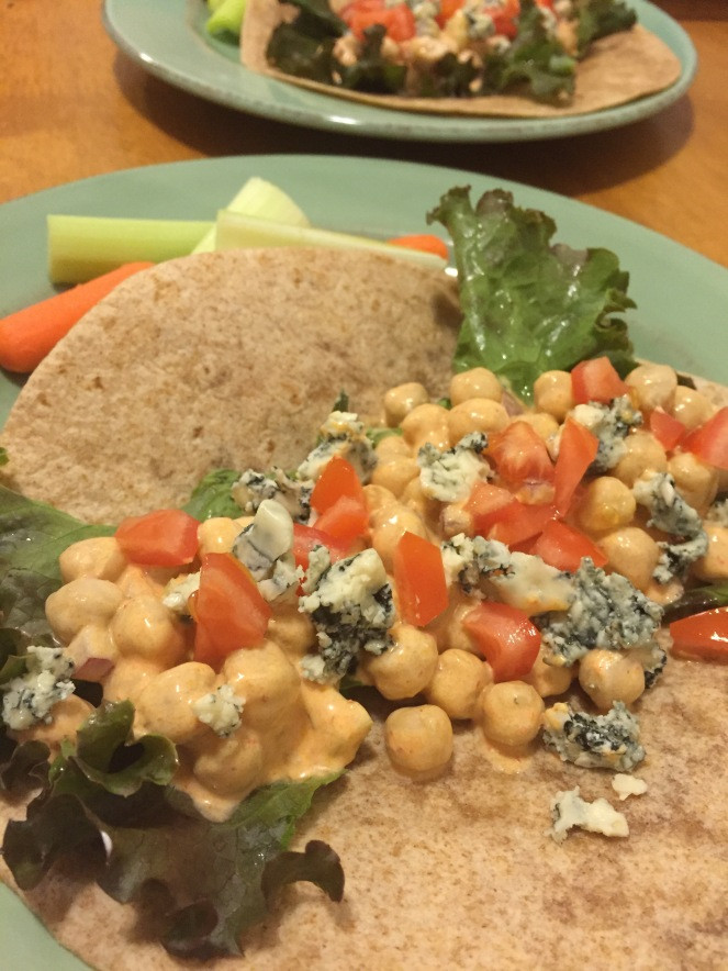 Buffalo Chickpea Wrap
