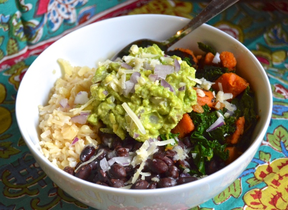 Kale and Sweet Tater Burrito Bowls