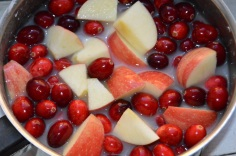 Apples & Cranberries Go In
