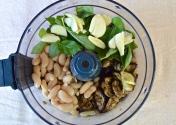 Add Beans, Garlic, Basil.
