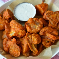 "Baked Buffalo Cauliflower ""Wings"""