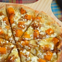 Butternut Squash, Caramelized Onion & Goat Cheese Pizza