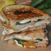 Quick & Easy: Fresh Mozzarella and Pear Grilled Cheese Sandwiches with Maple Mustard