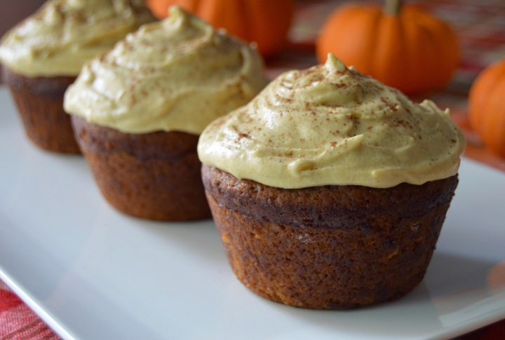 Mini Spice Cakes with Pumpkin Cream Cheese Frosting