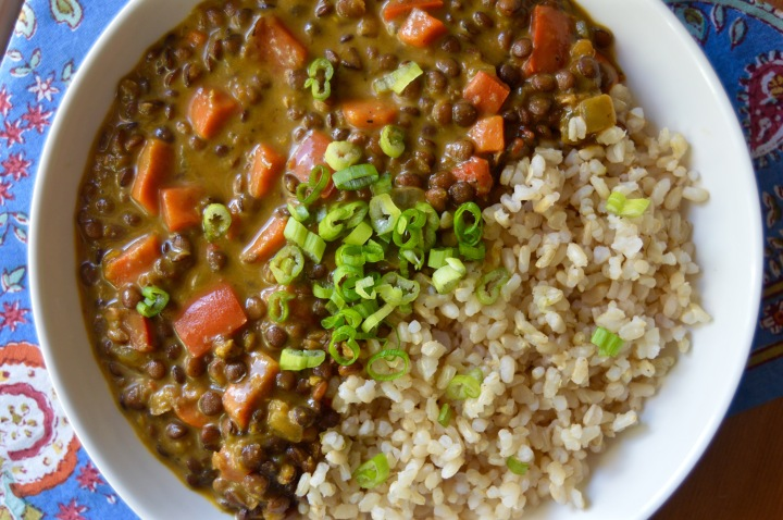 Curried Lentil Soup with Citrus Brown Rice