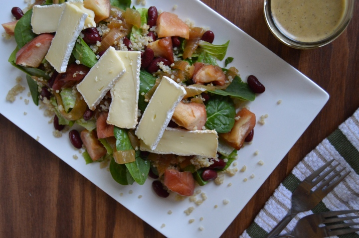 Roasted Apple & Brie Salad with Sherry Vinaigrette