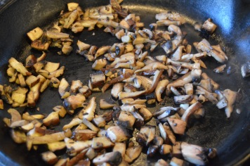 Cook the 'shrooms.