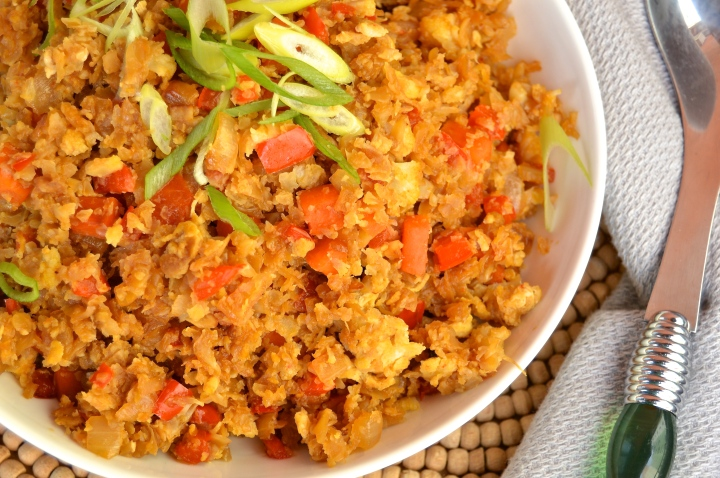 "Grain-Free Cauliflower Fried ""Rice"""