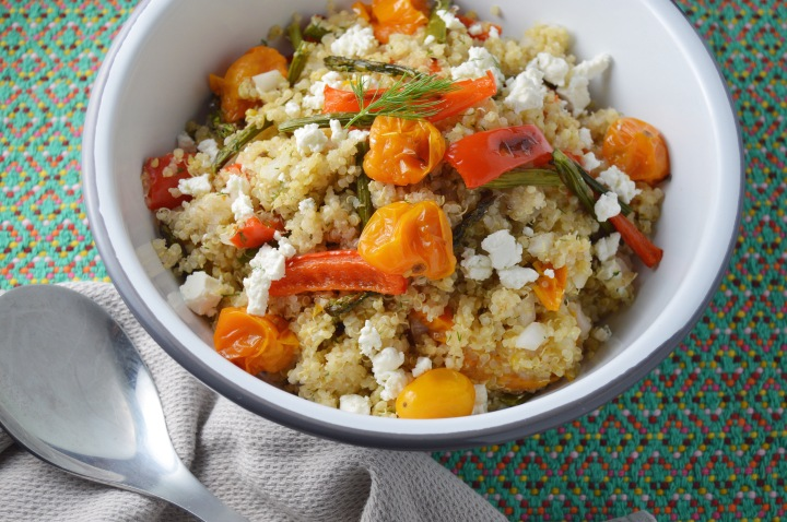 Quinoa Grain Salad with Fresh Dill & GoatCheese