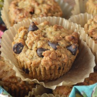 Healthy-ish Chocolate & Banana Oat Muffins (vegan optional)
