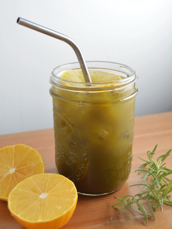 Rosemary-Matcha Iced Tea Lemonade (Matcha Energizer Drink)