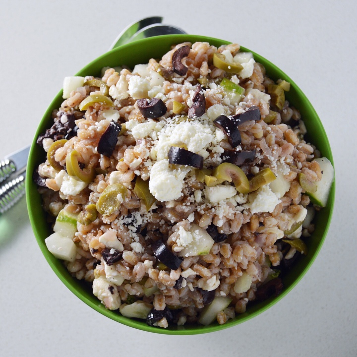 Farro Grain Salad with Greek Olives & Feta