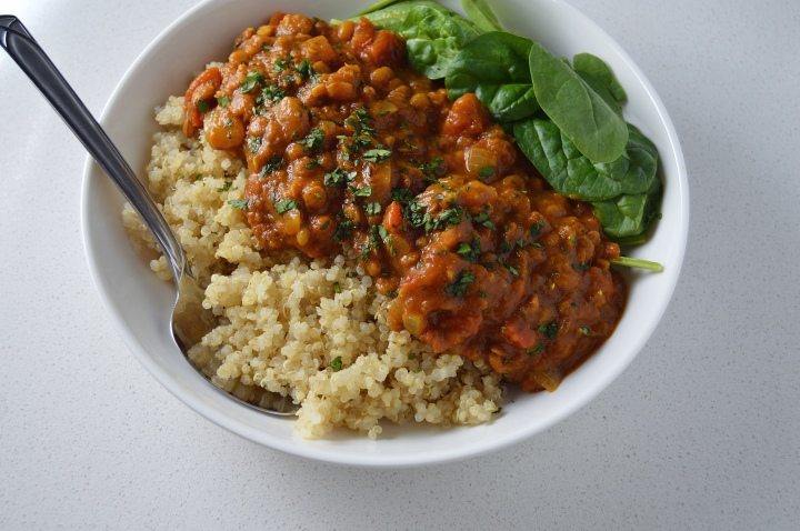 Indian Masala Lentil Stew with Quinoa (vegan | gluten-free)