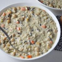 Creamy Chickpea & Rice Soup (vegan | gluten-free)