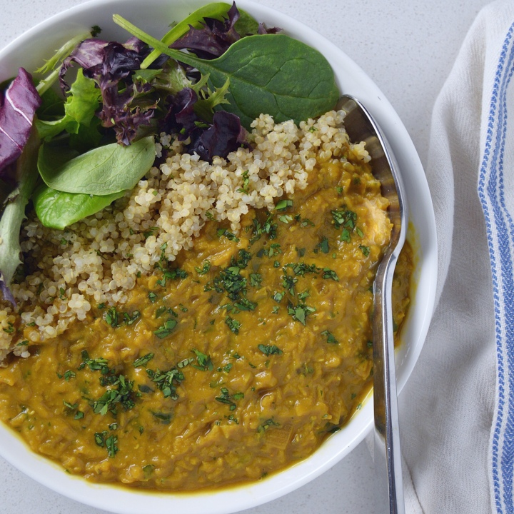 Golden Lentil Stew with Turmeric, Ginger & Shallot