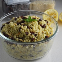 Lean Pantry: Lemony Quinoa Salad with Mint & Pine Nuts