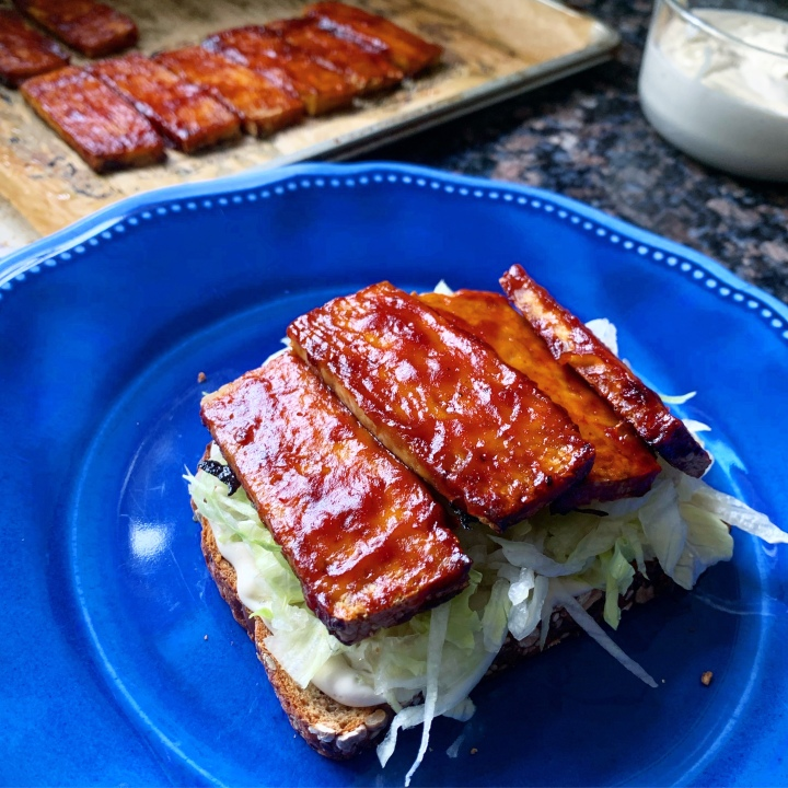 Saucy BBQ Roasted Tofu (vegan | gluten-free)
