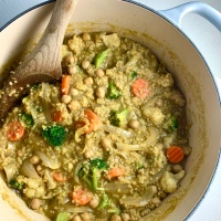 Thai Green Curry Stew with Quinoa (vegan | gluten-free)