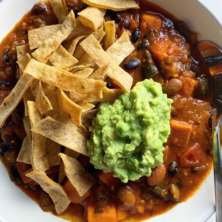 Sweet Potato & Poblano Chili (vegan |gluten-free)