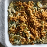Spinach Artichoke Mac & Cheese (vegan)