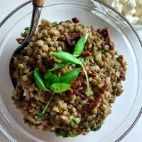 Lentil & Sun Dried Tomato Salad