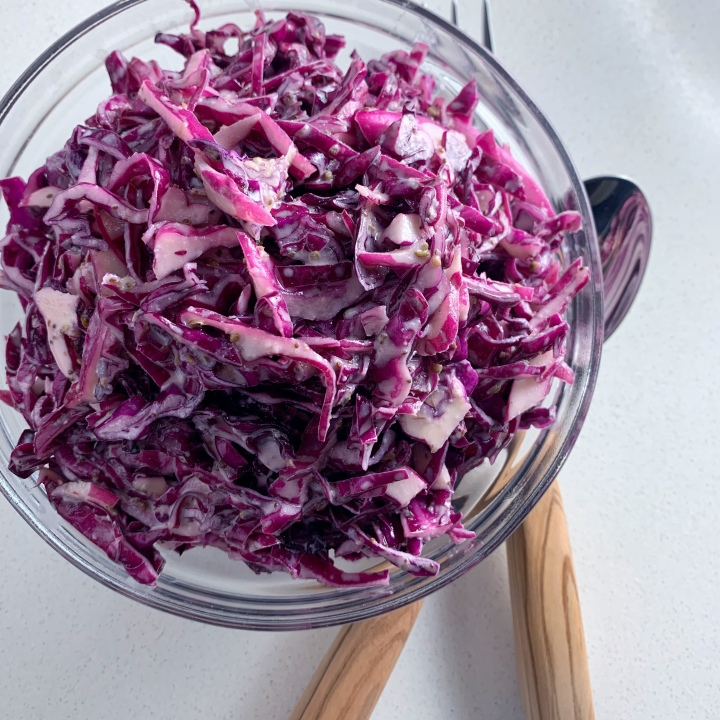 Creamy Cabbage Slaw (vegan)