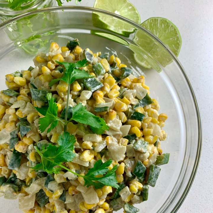 Mexican-Style Street Corn Off-the-Cob (vegan optional)