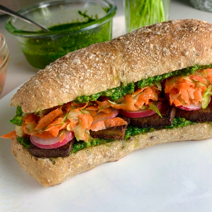 Banh Mi Style Tofu Sandwiches(vegan)